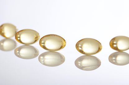 Cápsulas de vitamina D.
